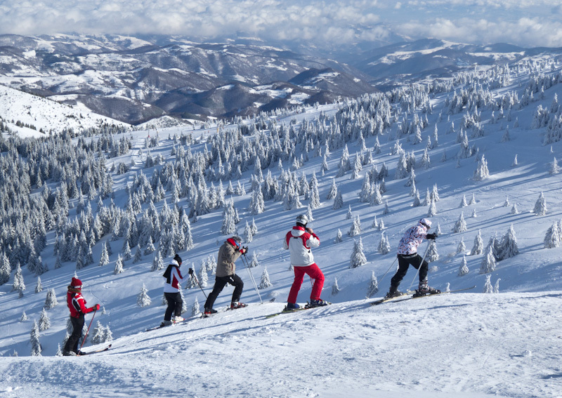 Winter Kopaonik Serbia mountain people snow ski