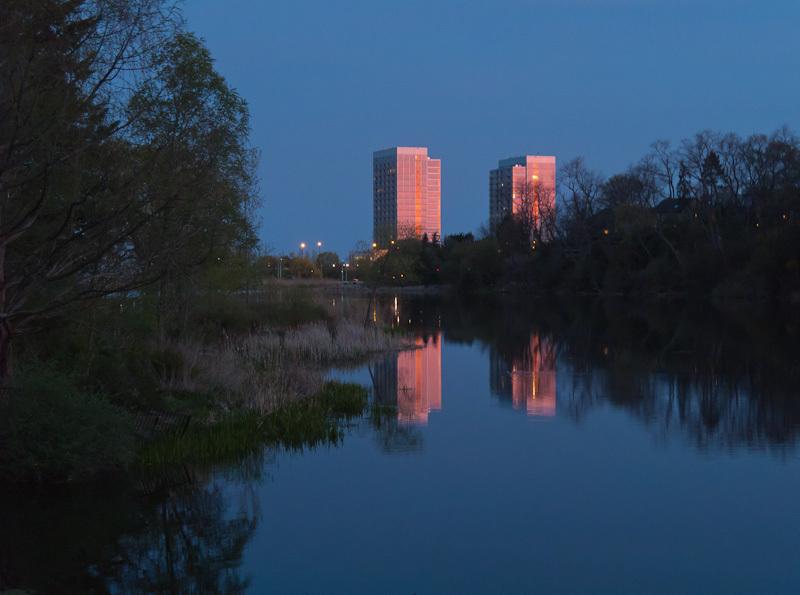 Toronto High Park Spring dusk reflection sunset