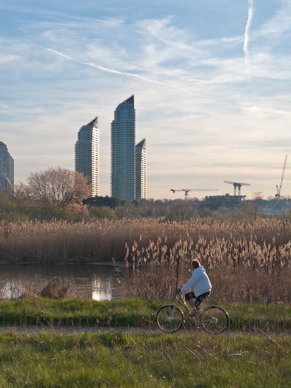 Toronto Humber Bay spring bicycle Nature urban