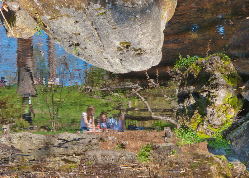 High Park, Spring, people, couple, reflection