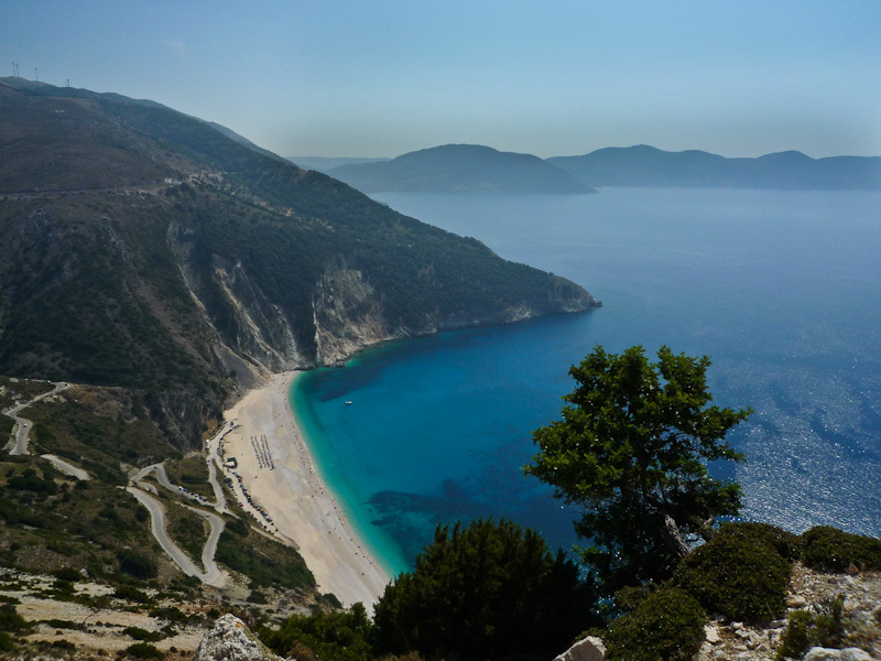 Myrtos Greece lookout ionian blue