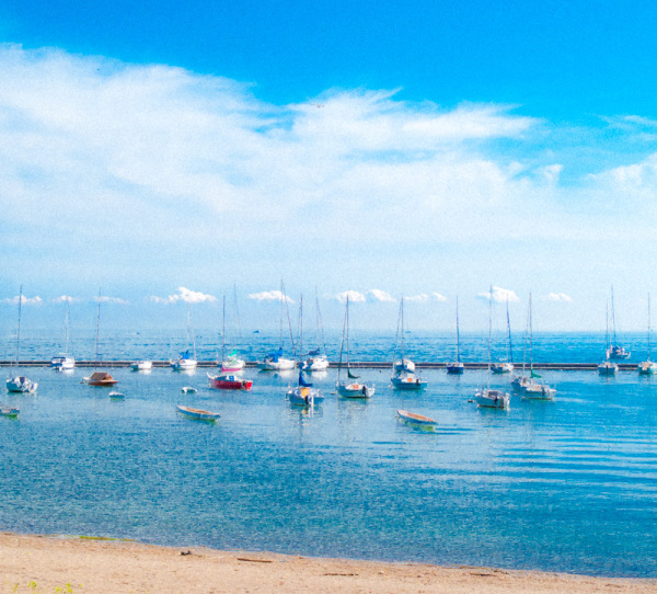 Toronto Lake Ontario Summer Boats sky clouds