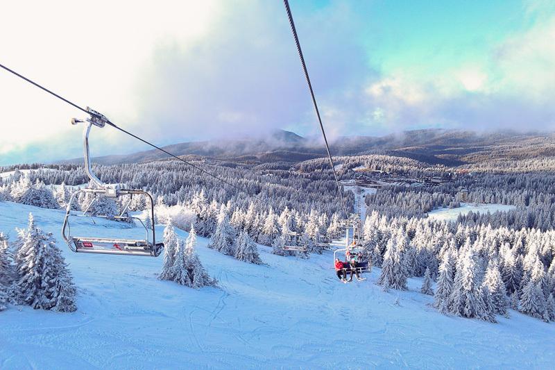 Kopaonik Serbia ski lift Winter snow mountain