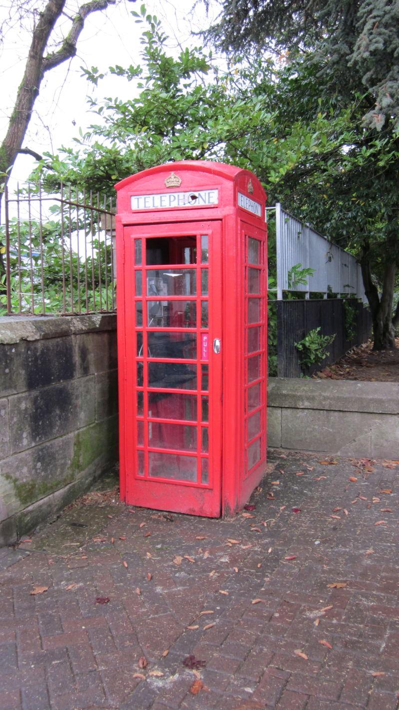 Phone-box.  Red.