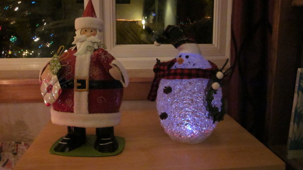Merry Christmas from Wobbly Santa & Mr Snowman
