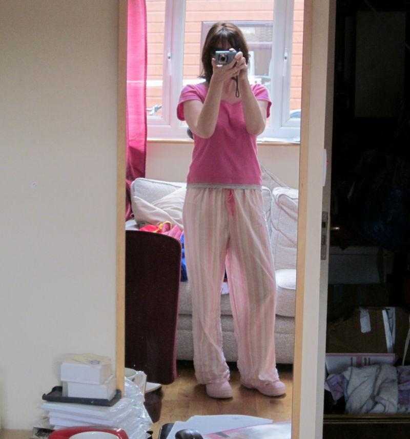 self portrait in summer pyjamas