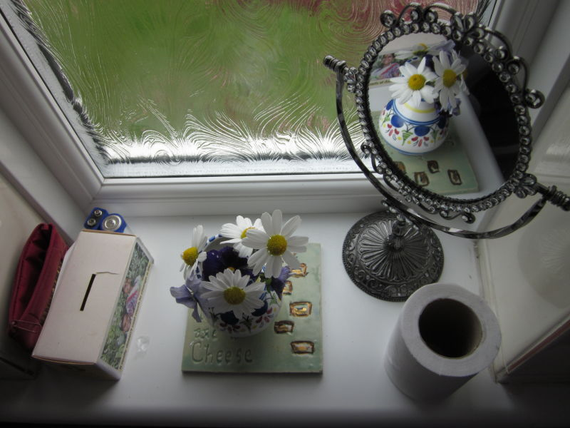 my mum's cloakroom windowsill