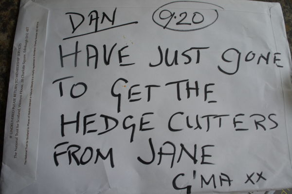 message from g'ma to dan