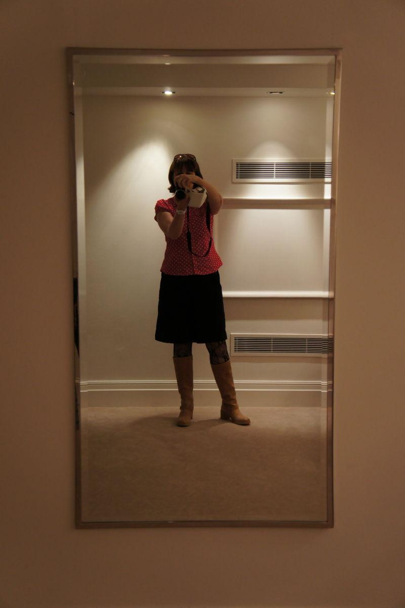 in the lavatory vestibule