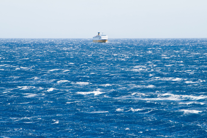 Windy day at sea (A choir for white and blue) # 2