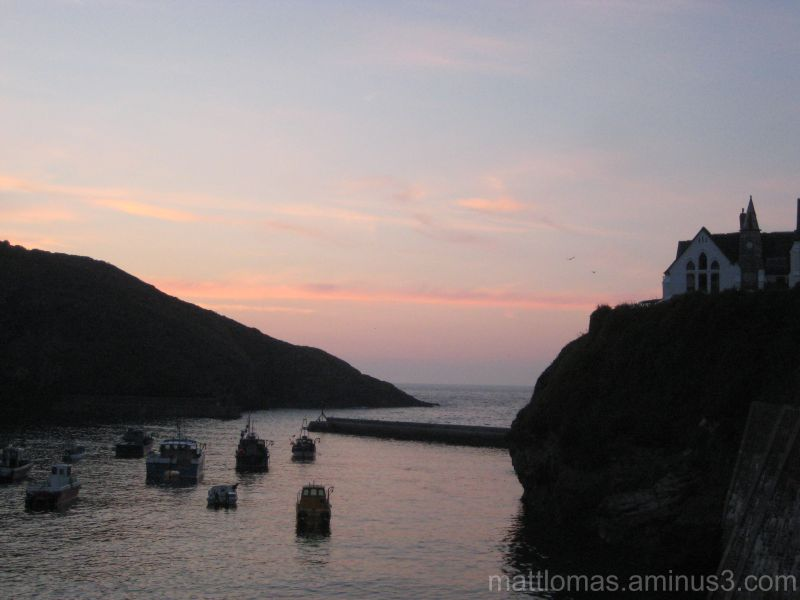 Sunset in Port Isaac, Cornwall