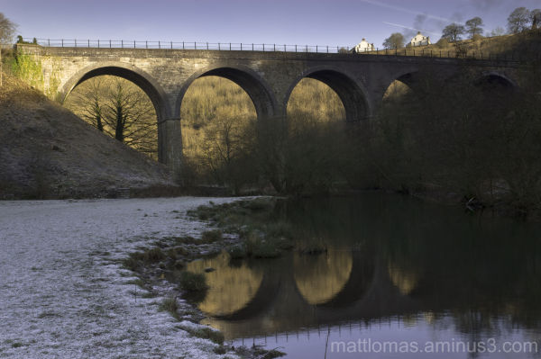 Monsel Viaduct on a cold January Morning