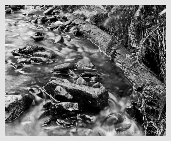 A stream in Ladybower Reservoir