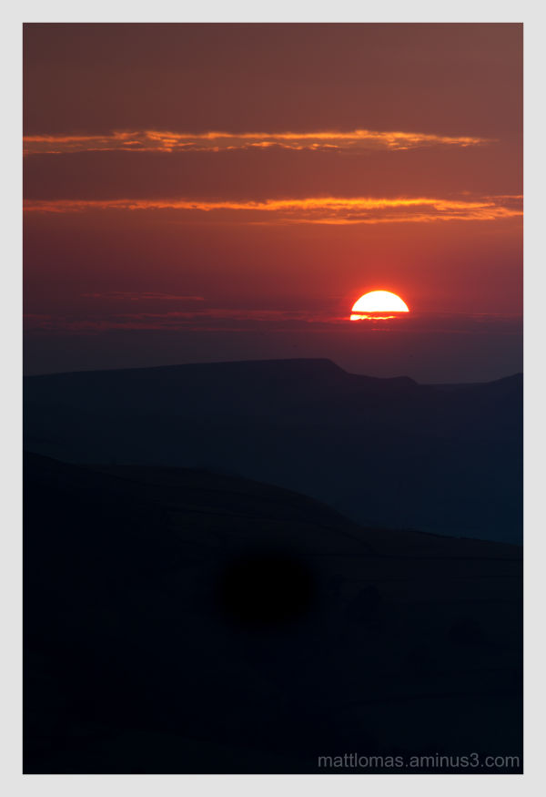 A beautiful September sunset in the peak district