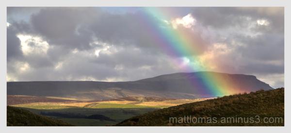 Rainbow adjacent to Ribblehead Viaduct