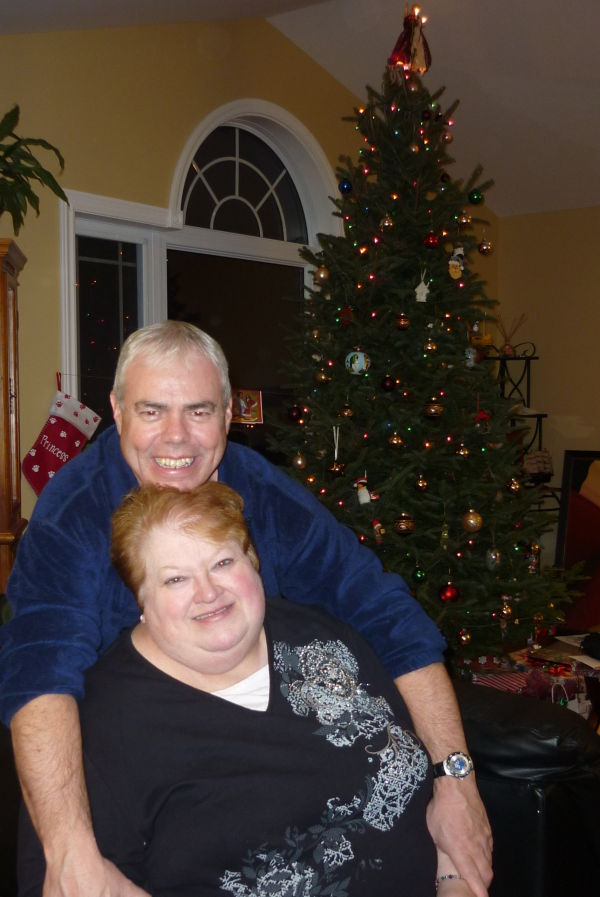 My Aunt Bev and Our dart friend Paul