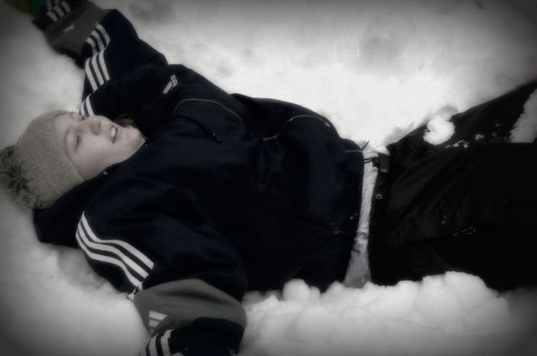 My Girl Making snow Angels