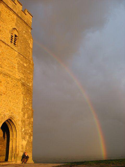 Rainbow at Glastonbury Tor