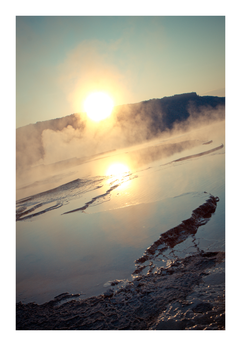 Sunrise Over Mammoth Hot Springs, Yellowstone NP