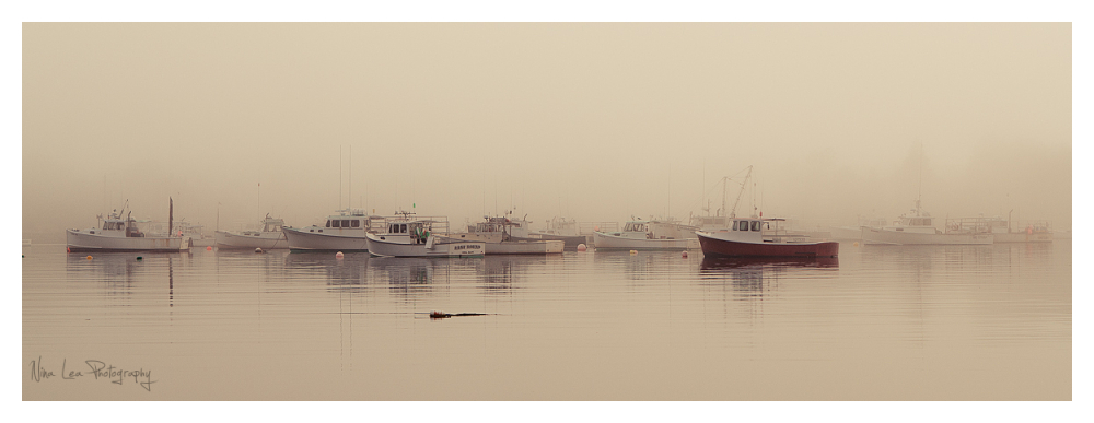 Lobster Boats in Fog