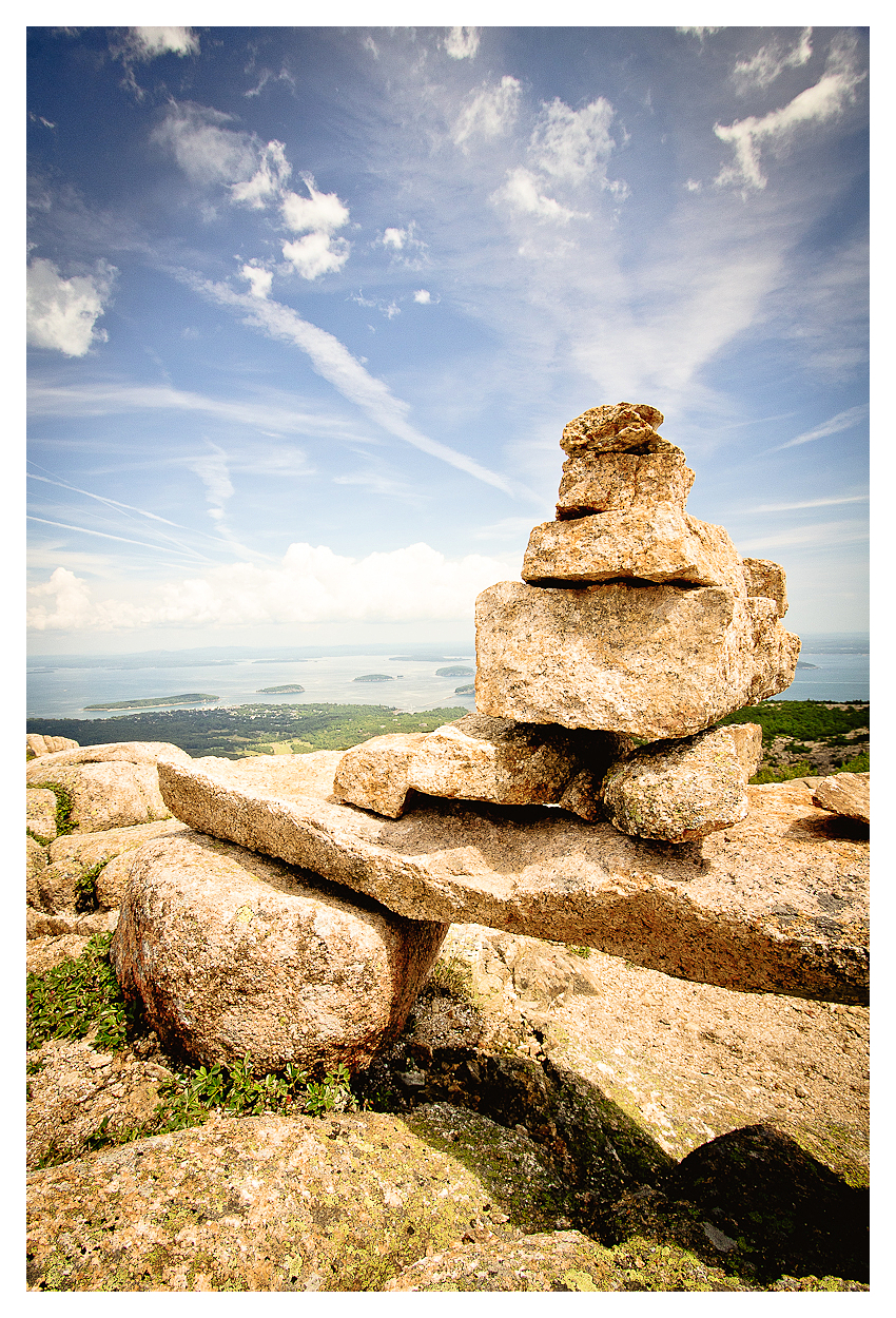 Cairn on Cadillac Mountain, Acadia National Park