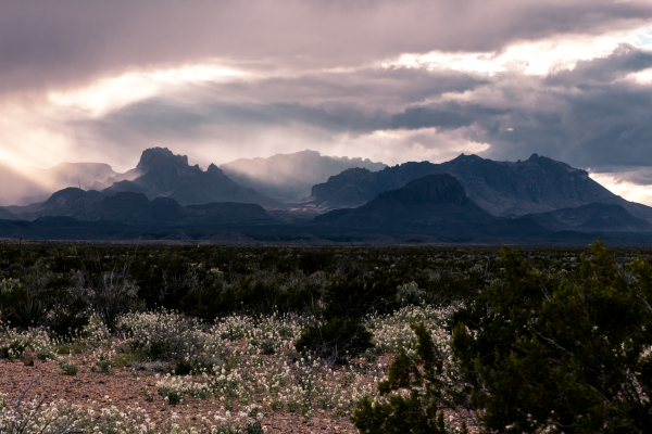 Chisos Mountains in Big Bend National Park