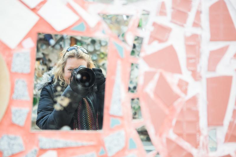 selfie, self portrait, magic gardens, philadelphia