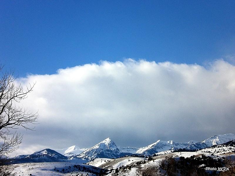 Snowcapped Fridley Peak