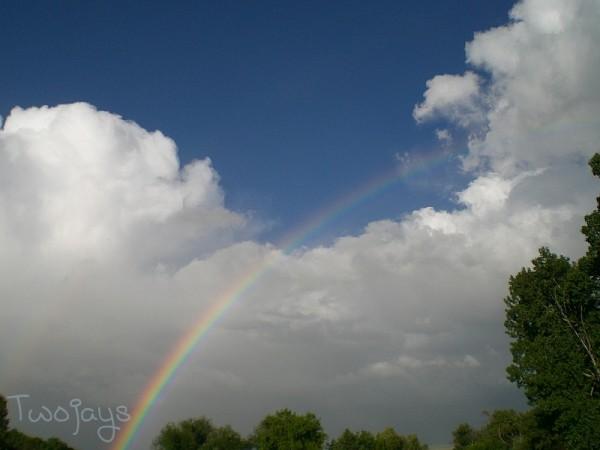 Rainbow over Chico, Montana