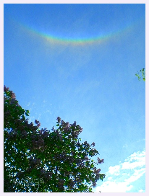 Upside down rainbow