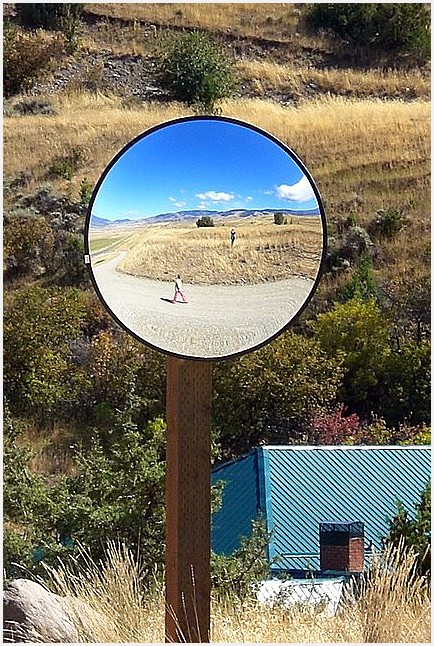 Rural Road Sphere Mirror Two