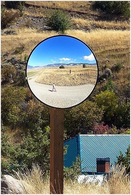 Rural Road Sphere Mirror Two
