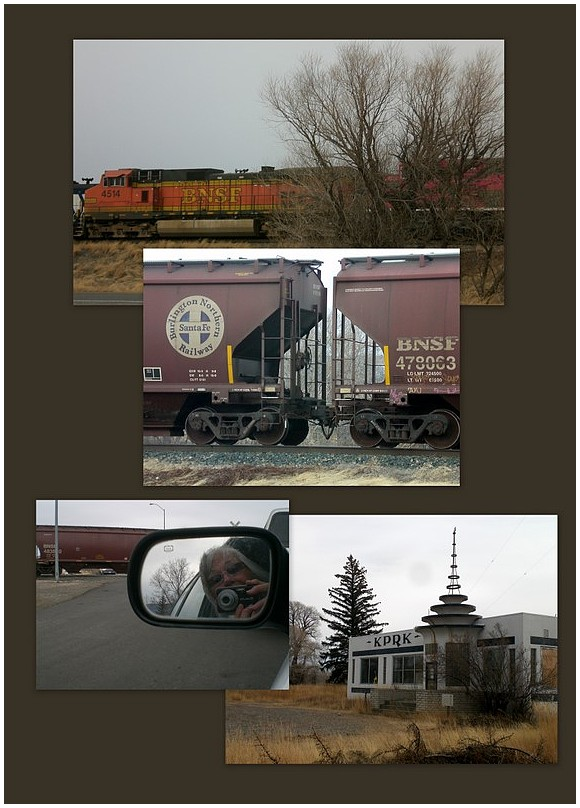 Train passing through Livingston