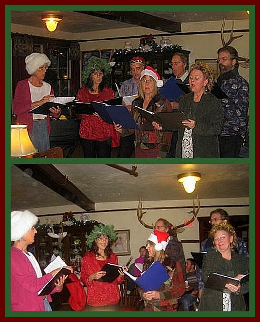 Carolers at Chico Hot Springs lobby