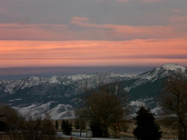 Absorkee Mt. range  Paradise Valley Sunset