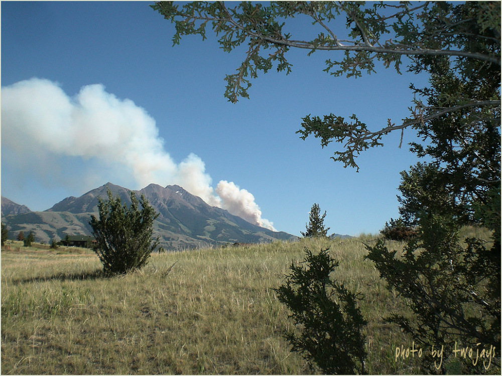 Wild fire in Paradise Valley 7/21/13 Six Mile Road