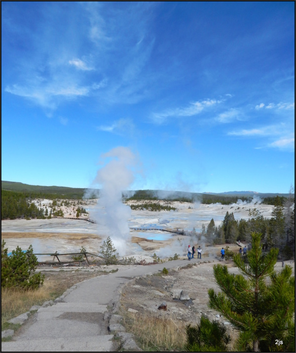 Steamy ancient old Yellowstone