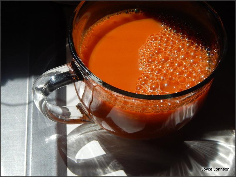 Fresh Juiced Carrots and Sunshine