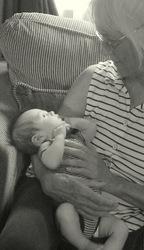 Great little, Great Great Nephew & me in stripes.