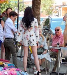 People Watching at Bozeman street Market