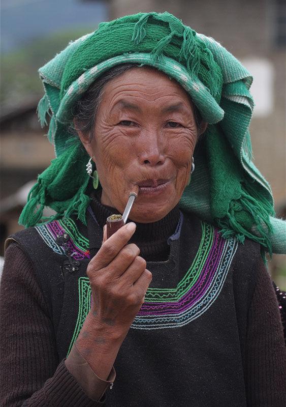 Smoking woman, Yunnan
