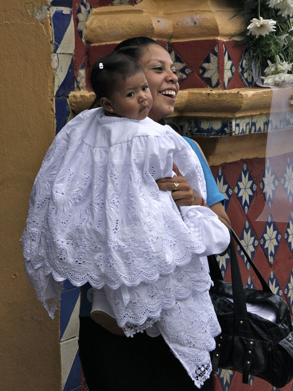 Baptism of a Mexican baby
