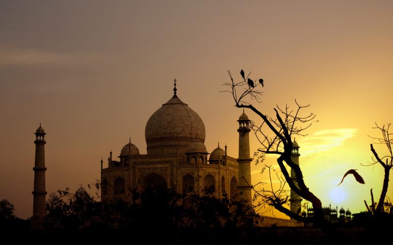 sundown in Agra