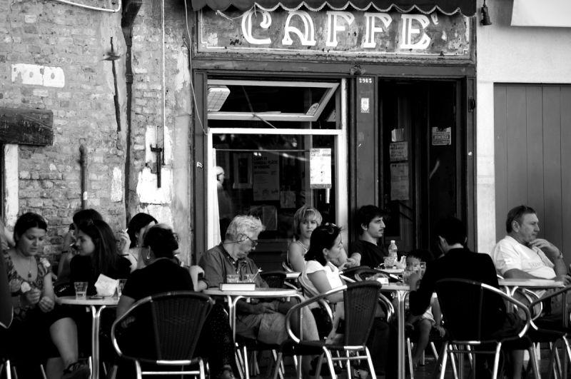venise italie terrasse café campo