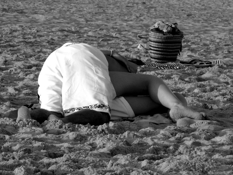 sable plage moliets landes homme femme