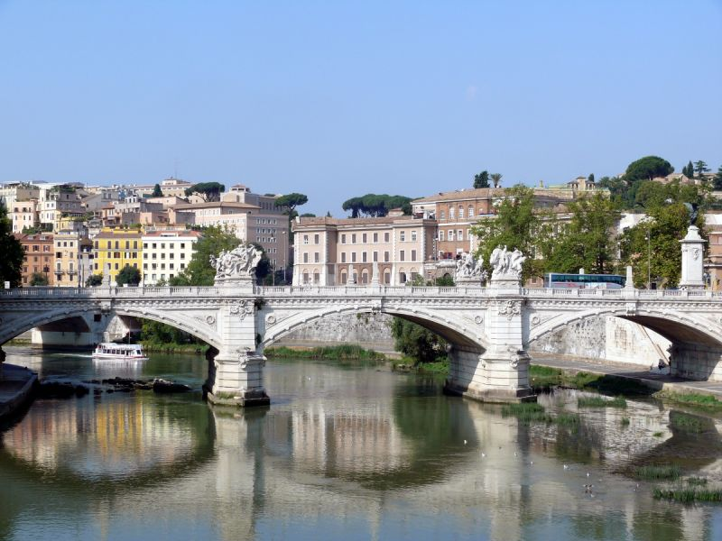 rome tibre pont paysage
