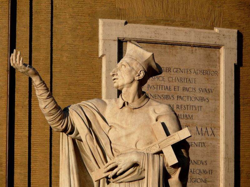 rome italie statue église