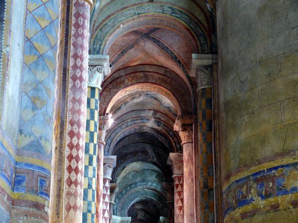 poitiers église notre-dame collatéral voute pilier