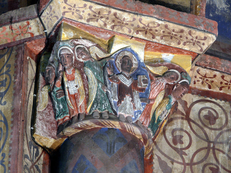 poitiers église notre-dame chapiteau piliers
