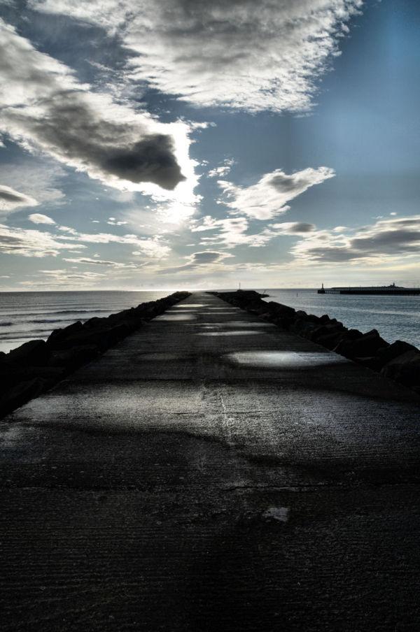 start of the pier..............
